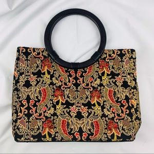 EUC Vintage Braciano Bead Embellished Bermuda Bag